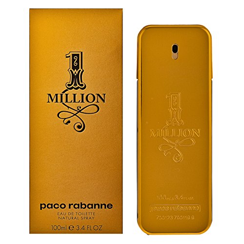 Paco Rabanne 1 Million Eau de Toilette Spray for Men, 3.4 Fluid Ounce - One Perfume