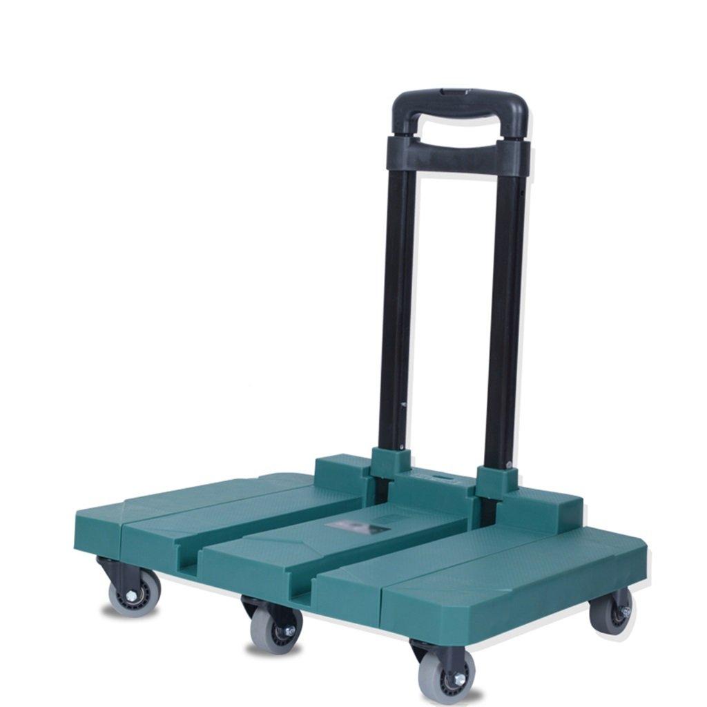 階段ショッピング荷物折りたたみ式ハンドリング用品ポータブルサイレントホイールカートは200Kgの重量を許容することができます (色 : 緑) B07DWJN8T1 緑 緑