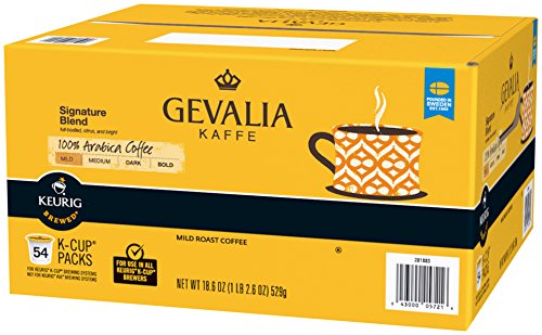 Gevalia Signature Blend Mild Roast Coffee K-Cup Pods, 54 Count, 18.6 Ounce ()
