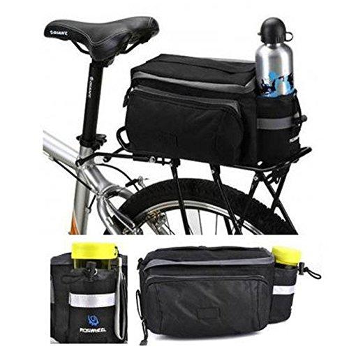 fivefire Multi-Funktion Mountain Road MTB Fahrrad Sport wasserdicht 7L Gepäckträger, Trunk Bag Fahrrad-Zubehör Handtasche Schultertasche schwarz Paar