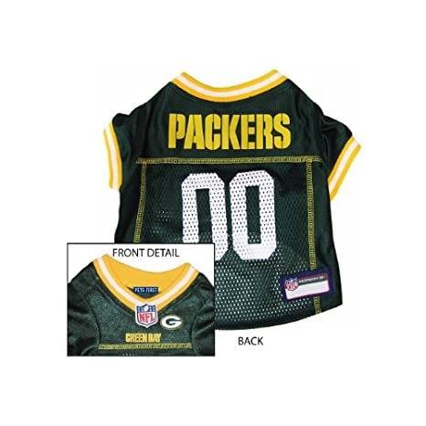 bc594b8a5 Amazon.com   Pets First Green Bay Packers NFL Dog Jersey - Small   Sports  Fan Pet T Shirts   Pet Supplies