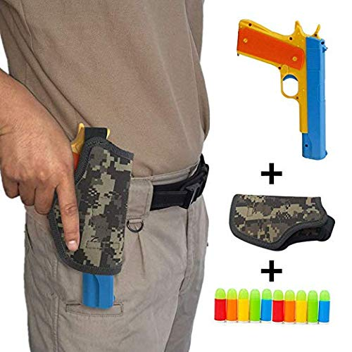 Ferbixo Realistic Colt 1911 Toy Gun with 10 Colorful Soft Bullets, Ejecting Magazine , Slide Action for Training or Play (Best Place To Shoot Guns In Vietnam)