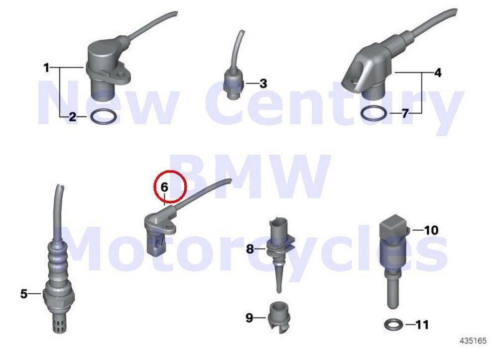 2 x BMW Genuine Motorcycle Front Rear Wheel Wheelspeed Sensor C600 Sport C650GT HP4 S1000RR S1000R F700GS F800GT F800GS F800R F800GS Adventure