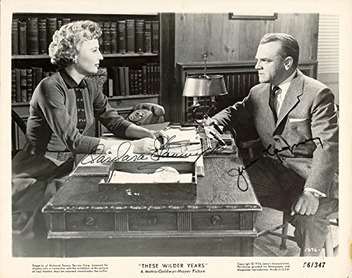 (These Wilder Years Movie Cast - Photograph Signed co-signed By: Barbara Stanwyck, James Cagney)