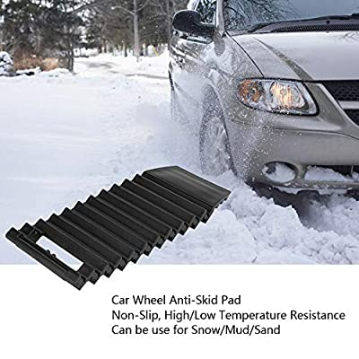 Keenso 2PCS Car Wheel Anti-Skid Pad, Non-Slip Emergency Tire Traction Mat Plate for Snow Mud Ice Sand Universal (2PCS): Automotive