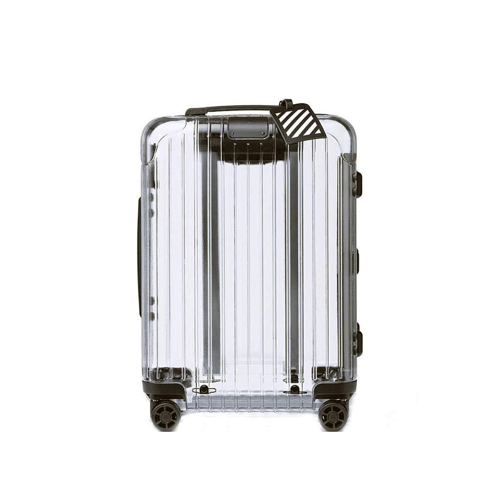 荷物、超軽量フルトランスペアレントスーツケースユニバーサルホイール搭乗シャーシトロリーケースパスワードボックス (サイズ さいず : 38x23x59cm)   B07JKZVS4N