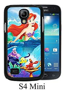 Beautiful And Unique Designed Case For Samsung Galaxy S4 Mini With The Little Mermaid disney princess black Phone Case