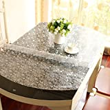 Stretch,Fold/Oval Tablecloth/Transparent Waterproof Table Mat-C 85x135cm(33x53inch)