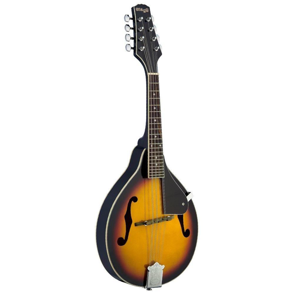 Stagg M20 8-String Bluegrass Mandolin with Adjustable Bridge - Violinburst by Stagg (Image #1)