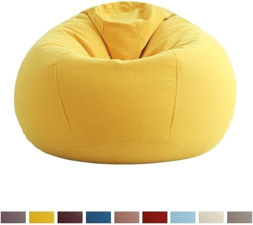 FEE-ZC Sillas con bolsitas de Frijoles para niños/Adultos: Mediano, Espuma de Memoria, algodón y Lino, Lavable a máquina extraíble, 4 Colores, 31 'x 35' de Ancho (Color: Amarillo)