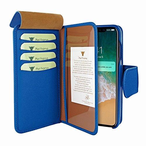 Piel Frama 793 Blue WalletMagnum Leather Case for Apple iPhone X by Piel Frama (Image #2)