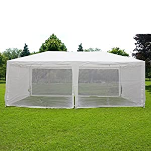 Quictent 10'x20' Outdoor Canopy Gazebo Party Wedding tent Screen House Sun Shade Shelter with Fully Enclosed Mesh Side Wall