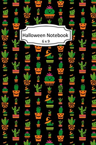 Skeleton Halloween Clipart (Halloween Notebook: Halloween Cactus Clip Art Images on 6 x 9 Blank Lined Softcover Journal for Notes , Halloween Gift Design Cover Note)
