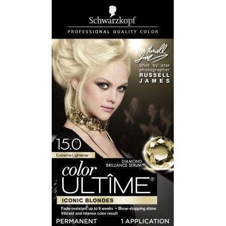 Schwarzkopf Ultime Hair Color Cream, 15.0 Extreme (Hair Lightener Kit)