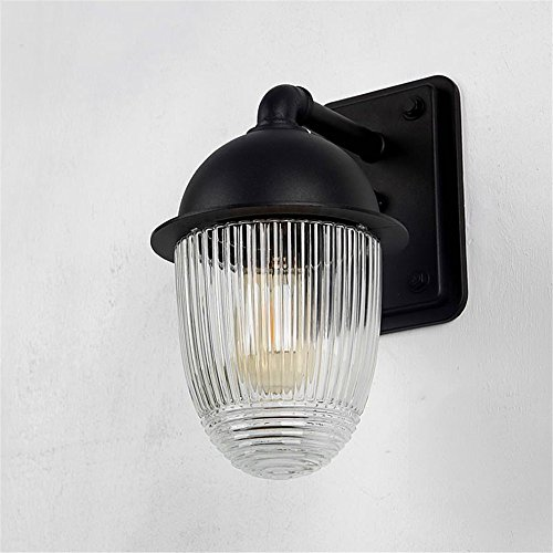 Wall Sconces Industrial Style Wall Light rain Rust Sunscreen Outdoor Patio Light Outdoor Wall Lights Balcony Light The Road Corridor Light Bulb Wall lamp Pure Aluminum Diameter 22cm Height 30cm Antique Rust Wrought Iron Screen