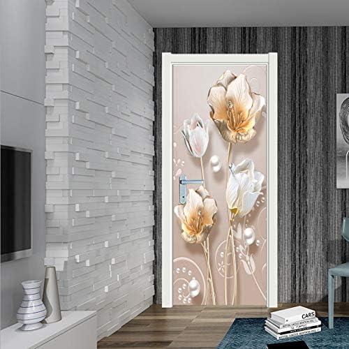 Tessuto MAIYOUWENG Poster per Porte 3D in PVC Loto Adesivo per Porta Carta Autoadesiva 77x200cm,Regalo di Natale Pellicola Decorativa