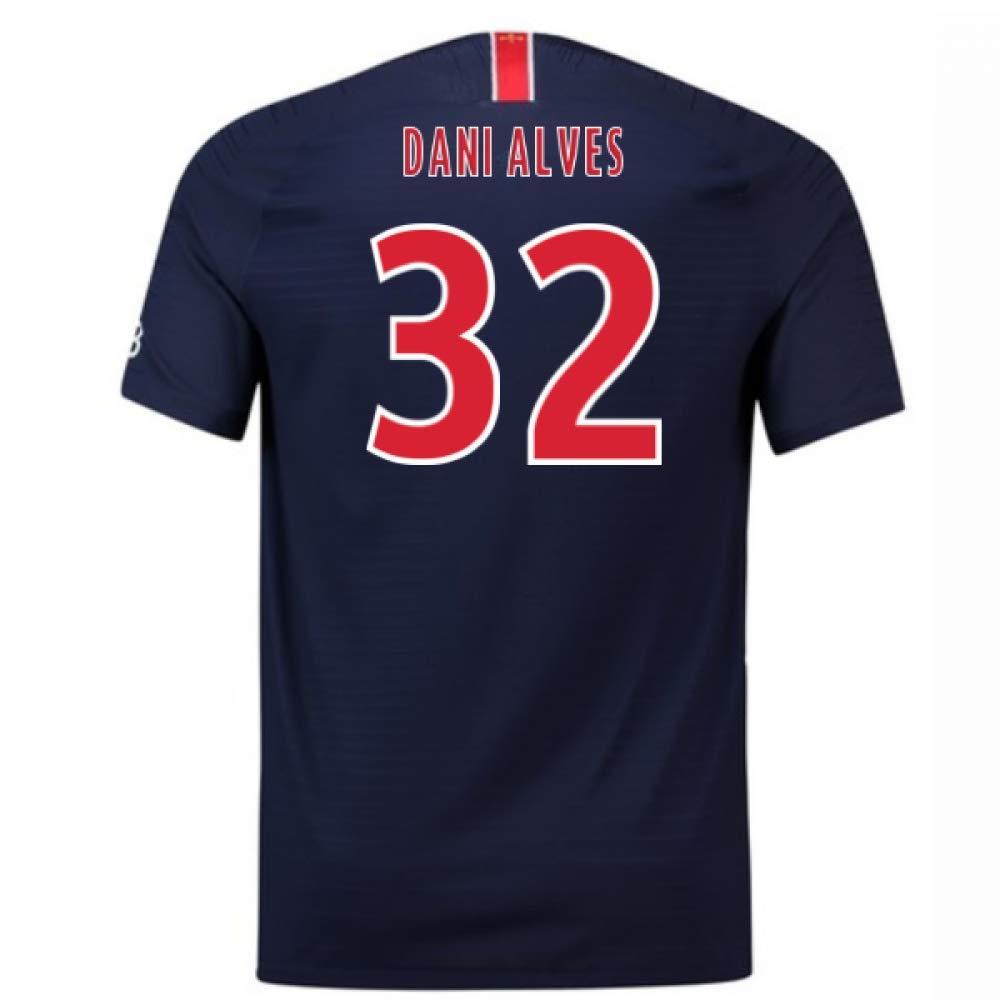 2018-2019 PSG Home Nike Football Soccer T-Shirt Trikot (Dani Alves 32)