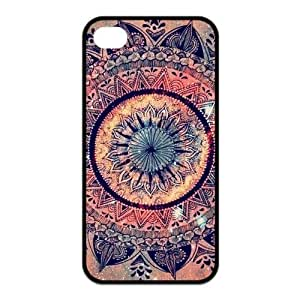 Fashion Mandala Pattern Protective Rubber Cover Case for iPhone 4,iPhone 4s Cases Kimberly Kurzendoerfer