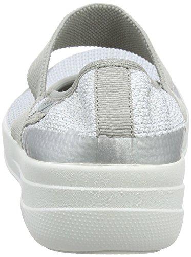 Silver Uberknit Multicolor Fitflop Para Mujer urban metallic Merceditas metallic 567 Janes Weave White Mary FpvWApqgf