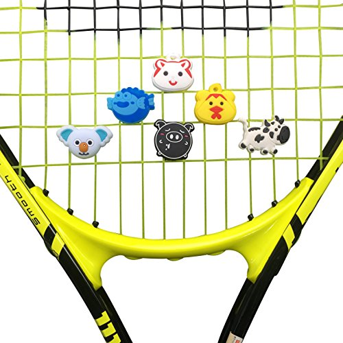 Alien Pros ZOOLIO Tennis Vibration Dampener- Set of 6 - Tennis Shock Absorber For Strings- Best For Tennis Racket, Premium- Durable & Long-Lasting- Great For Tennis Players (ZOOLIO 3)