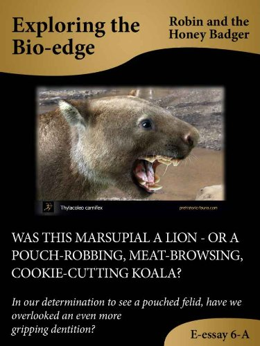 Was This Marsupial A Lion  Or A Pouchrobbing Meatbrowsing  Was This Marsupial A Lion  Or A Pouchrobbing Meatbrowsing  Cookiecutting Koala Eessays Exploring The Bioedge Book  B Robin  The Honey Badger  Animal Testing Essay Thesis also Essay On Photosynthesis  Best Custom Writing Sites