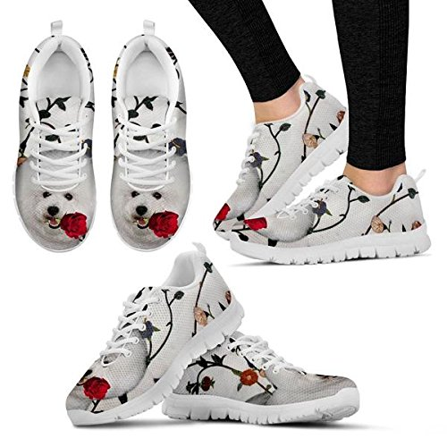 Casual Print Sneakers Frise 5 Cute Dog Bichon Men's 8 Brand OqnxBHwC