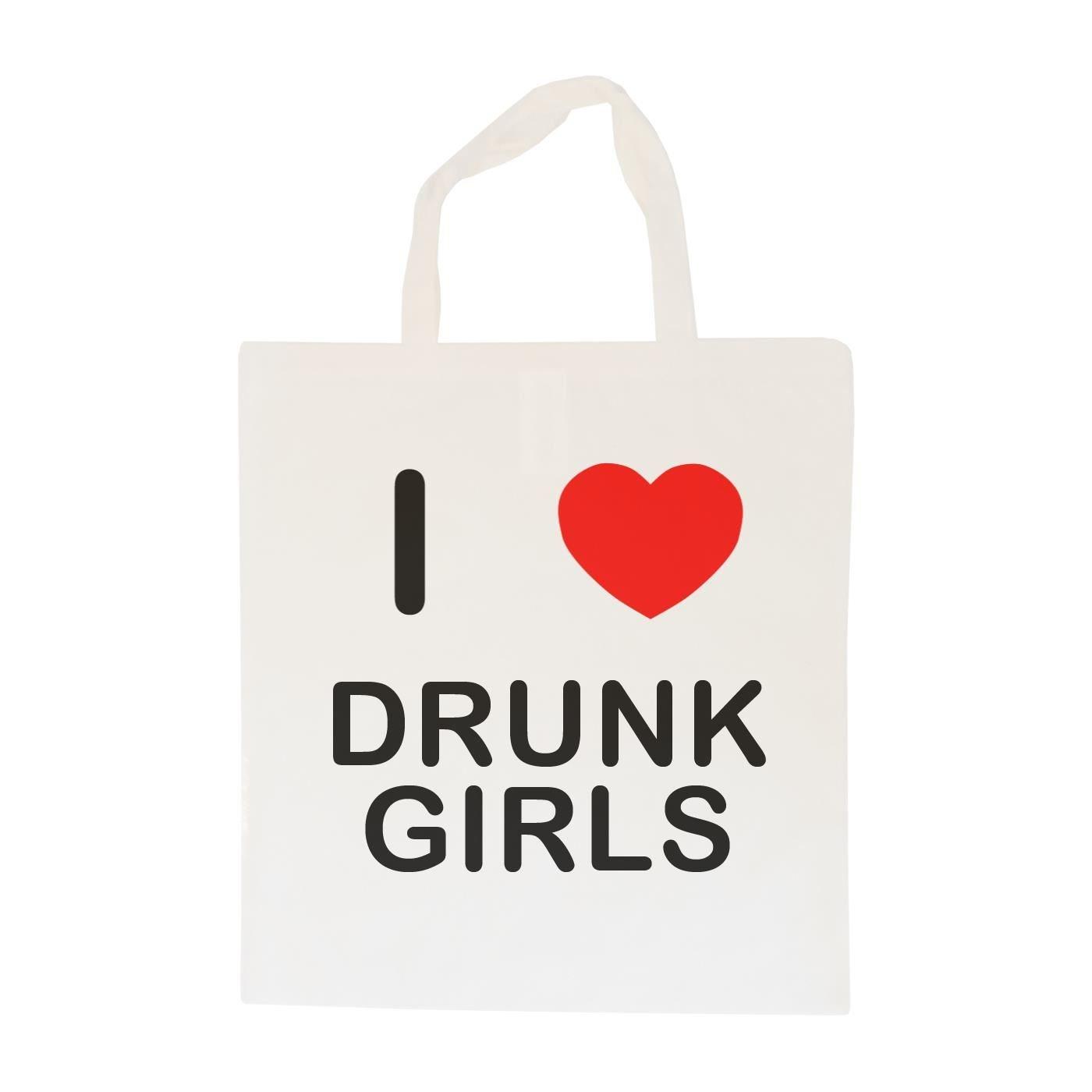 Cotton Long Handle Sling Bag I Love Drunk Girls