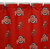 College Covers Ohio State Buckeyes Shower Curtain