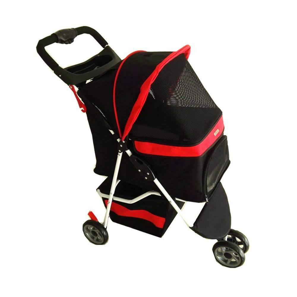A Daeou Pet StrollerPortable folding trolley, tricycle, pet out of Bag box
