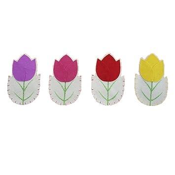 Luoem Besteckhalter Blumen Bestecktasche Fur Kinder Ostern Silvester