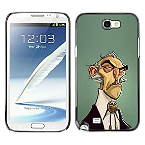 For SAMSUNG Galaxy Note 2 II / N7100 Case , Man Wild West Style Fashion - Diseño Patrón Teléfono Caso Cubierta Case Bumper Duro Protección Case Cover Funda
