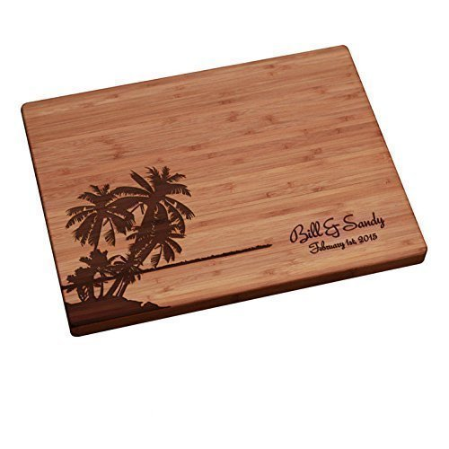 Personalized Cutting Board - Palm Trees