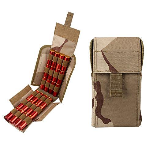 (Kosibate Shotgun Shell Pouch,12 Gauge Molle Holder 25 Round for Tactical Vest Multicam BCU)