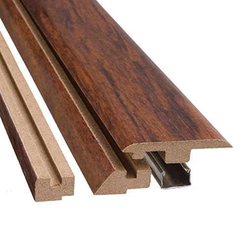 Simple Solutions Wood 4 in 1 Flooring Transition Molding 78-3/8 Inches Long (Pack of 3) (Mayfair Mahogany)