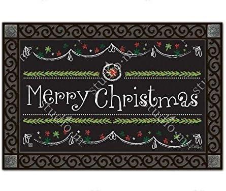 Magnet Works – Studio M Blackboard Christmas MatMates Doormat – 18 x 30