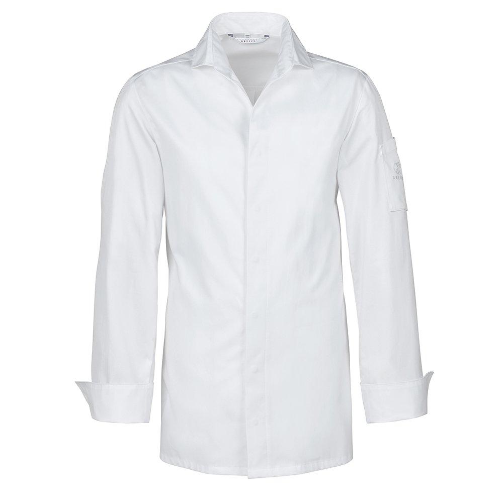 Greiff Kochhemd mit V-Ausschnitt | Slim Fit | CUISINE EXQUISIT | Style 5565 | Weiß | Gr: 46-54