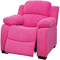 HOMES: Inside + Out IDF-6007PK Gem Kids Recliner, Pink