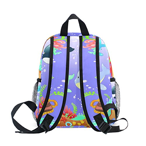 Underwater Toddler Kids World ZZKKO School Dolphin Girls Bag Kindergarten Pre Backpack Boy Sea Whale Ocean for YcYFqOwE