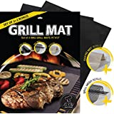 La-Chef BBQ Grill Mat -As Seen on TV - NonStick Grill Mats for-Gas,Charcoal,Electric Grills -Set Of 4 - Lifetime Guarantee