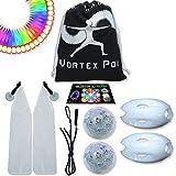 UltraPoi – Vortex Poi - LED Poi Set - Best Light Up Glow Poi - Flow Rave Dance - Spinning Light Toy