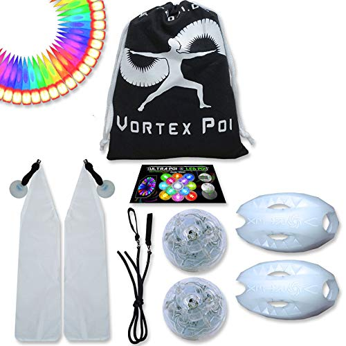 UltraPoi – Vortex Poi - LED Poi Set - Best Light Up Glow Poi - Flow Rave Dance - Spinning Light Toy by UltraPoi (Image #7)