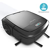 Automatic Mopping Robot Vacuum Cleaner - Robotic Auto Self Navigation Low Profile Home Cleaning Vacuum with Water Tank Mop Attachment - for Hardwood, Linoleum, Tile, Carpet Floor - PureClean PUCRC50