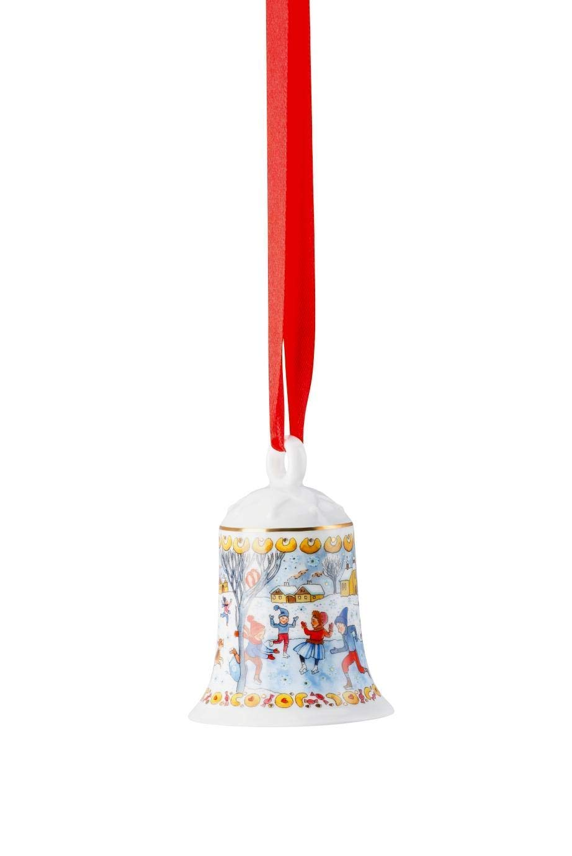 Hutschenreuther Porcelain Christmas Bell 2018, Winter Pleasures, Porzellan Weihnachtsglocke Glocke 2018