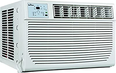 GARRISON 2477801 R-410A Through-The-Window Heat/Cool Air Conditioner with Remote Control, 8000 BTU, White