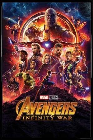 1art1 Los Vengadores Póster con Marco (Plástico) - Infinity War, Cartel De Cine (91 x 61cm)