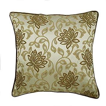 The HomeCentric Funda de Almohada Decorativa marrón Jacquard ...