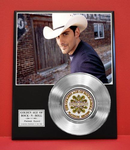 Brad Paisley Non Riaa LTD Edition Platinum Record Display - Award Quality Plaque - Country Music Memorabilia -