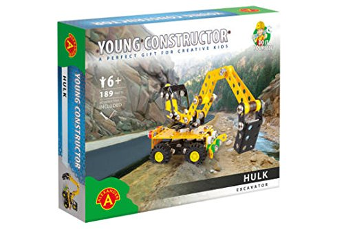 Young Constructor -Erector- Hulk (Excavator) Model Building Set, 189 Pieces, For Ages 8+, STEM Construction Education Toy 100% Compatible with All Major Brands including Meccano