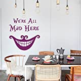 vinyl wandtattoo zitat aus alice im wunderland buch i 39 m not crazy my reality is different from. Black Bedroom Furniture Sets. Home Design Ideas