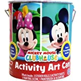Mickey Mouse and Minnie Mouse Deluxe Activity Art Can Coloring Painting Stencils Stickers